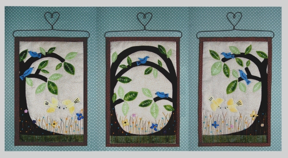 Triptych of Tree Wallhangings