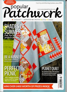 My 9 Patch Quilt on PP Mag Cover 18.07.16 A