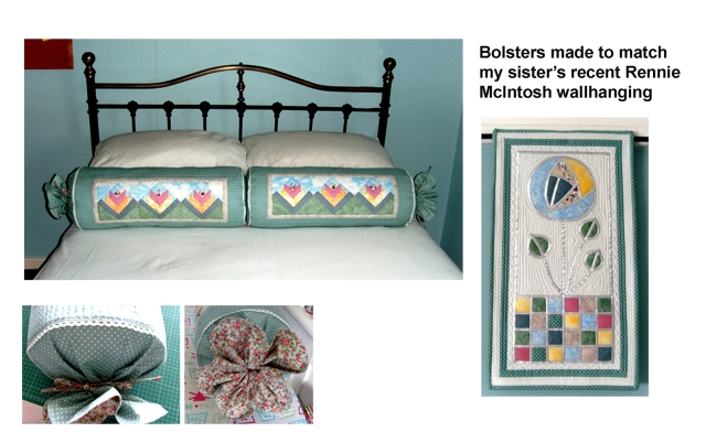 Brens Bolsters and Rennie McIntosh wallhanging
